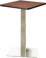 "Mayline Bistro 30"" Square Bar Height Table Stainless Steel, Regal Mahogany [CA30SHSTRMH]-1"