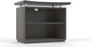 "Mayline Sterling 36"" 2-Shelf Bookcase Textured Driftwood [STEB2TDW]-1"