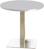 "Mayline Bistro 36"" Round Dining Height Table Stainless Steel, Ice Gray [CA36RLSTFLK]-1"