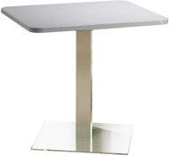 "Mayline Bistro 36"" Square Dining Height Table Stainless Steel, Ice Gray [CA36SLSTFLK]-1"