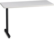 "Mayline T-Mate 72""x24"" Rectangular Adder Table Ice Gray [PRA7224TSFLK]-1"