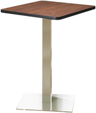 "Mayline Bistro 36"" Square Bar Height Table Stainless Steel, Regal Mahogany [CA36SHSTRMH]-1"
