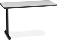 "Mayline T-Mate 72""x30"" Rectangular Adder Table Black [PRA7230TSFLK4]-1"
