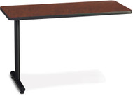 "Mayline T-Mate 72""x30"" Rectangular Adder Table Regal Mahogany [PRA7230TSRMH]-1"