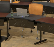"Mayline T-Mate 48""x24"" Transition Adder Table Black [PTA24TSDY]-1"