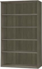 Mayline Medina Bookcase 5 Shelf Gray Steel Laminate [MVB5LGS]-1