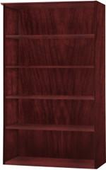 Mayline Medina Bookcase 5 Shelf Mahogany Laminate [MVB5LMH]-1