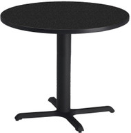 "Mayline Bistro 42"" Round Dining Height Table Black Base [CA42RLBTANT]-1"