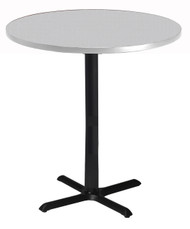 "Mayline Bistro 42"" Round Bar Height Table Black Base, Ice Gray [CA42RHBTFLK]-1"