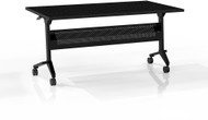"Mayline Flip-N-Go 48""x24"" Rectangular Table Anthracite [LF2448TANT]-1"