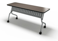 "Mayline Sync 48""x18"" Rectangular Table Mocha [SY1848TLDCM]-1"