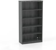 Mayline Aberdeen 5 Shelf Bookcase Gray Steel [AB5S36LGS]-1