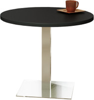 "Mayline Bistro 42"" Round Dining Height Table Stainless Steel Base [CA42RLSTANT]-1"