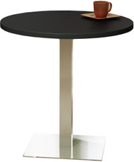 "Mayline Bistro 42"" Round Bar Height Table Stainless Steel Base [CA42RHSTANT]-1"