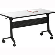 "Mayline Flip-N-Go 72""x24"" Rectangular Table Folkstone [LF2472TFLK4]-1"