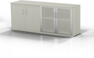 Mayline Medina Low Wall Cabinet, Wood / Glass Doors Textured Sea Salt [MVLCTSS]-1