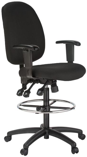 harwick extended height ergonomic drafting chair 6058cd
