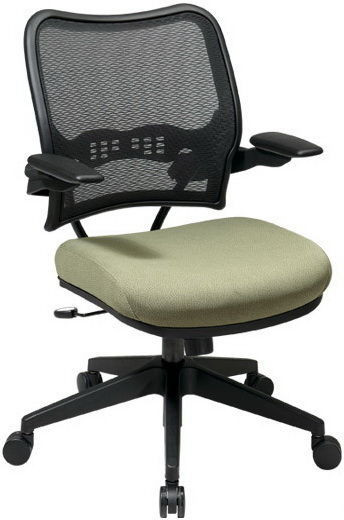 Air Grid® Mesh Back Chair with Fabric Seat [13-7N1P3] -1