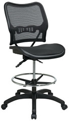 Air Grid Seat and Back Mesh Drafting Chair [13-77N30D] -1