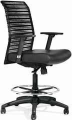 All Seating Zip Mesh Drafting Stool [95019] -1