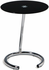 Ave. Six Yield Collection Glass Top Accent Table [YLD04]  1