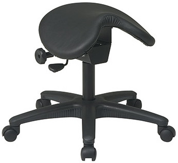 Backless Saddle Stool with Adjustable Seat Angle [ST203] -1