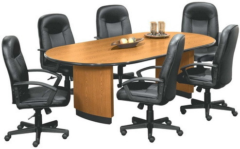 Basyx Foot Racetrack Conference Room Tables OVT - 8 foot conference room table