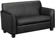 Basyx Black Leather Love Seat [VL872] -1
