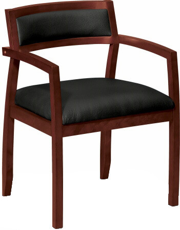 Basyx Wooden Frame Leather Side Chair [VL852] -1