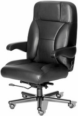 Big and Tall Leather Office Chair with Flip Up Arms [CHIEF-L] -1