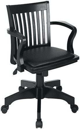 Black Wooden Bankers Chair [108BLK-3] -1