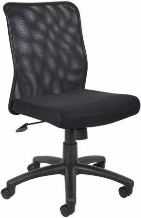 Boss Armless Mesh Back Task Chair [B6105] -1