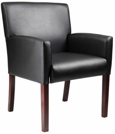 Boss Box Arm Vinyl Reception Chair [B629] -1
