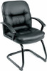 Boss LeatherPlus Sled Base Guest Chair [B7309] -1