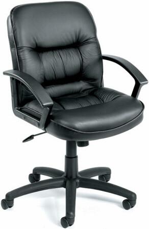 Boss Mid Back LeatherPlus Desk Chair [B7306] -1