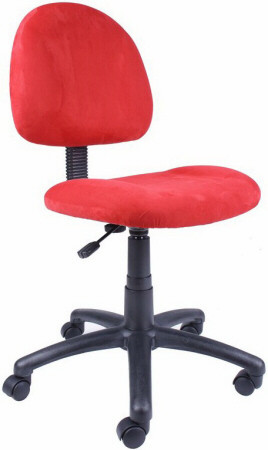 Boss Pink, Blue Or Red Microfiber Desk Chair [B325]  1