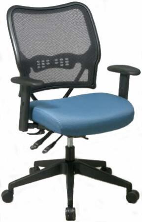 Deluxe Custom Fabric Seat Mesh Chair [13-7N9WA] -1