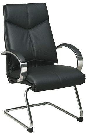 Deluxe Leather Guest Chair [8205] -1