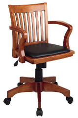 Office Star Deluxe Wood Bankers Desk Chair [108FW] -1