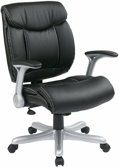 Eco-Leather Office Desk Chair with Flip Arms [ECH8967R5] -1