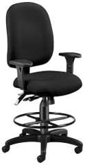 OFM Ergonomic Multi-Function Drafting Chair [125-DK] -1