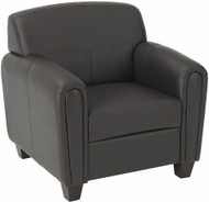 Espresso Faux Leather Club Chair [SL2571] -1
