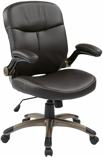 Mid Back Espresso Eco Leather Office Chair [ECH37811] -1  sc 1 st  Office Chairs On Sale & Mid Back Espresso Eco Leather Office Chair - Mid Back Office Chairs