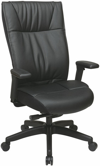 Office Star Executive Cow Split Leather Chair [9370-55NC17U] -1
