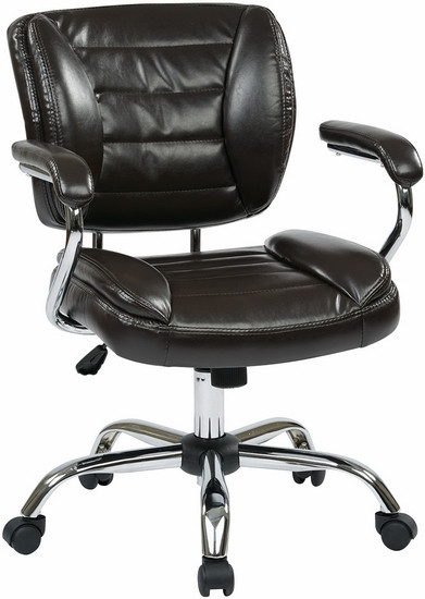 Faux Leather Office Task Chair [ST52052CA] -1