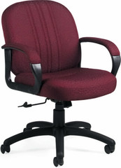Global Praze® Mid Back Upholstered Office Chair [3321-4] -1