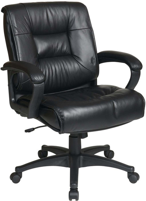 Mid Back Glove Soft Leather Office Chair [EX5161] -1