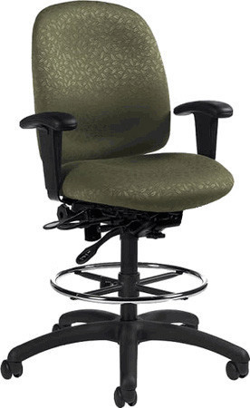 global granada ergonomic drafting stool 1