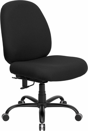 Hercules Mid Back Big and Tall Chair [WL-715MG-BK-GG] -1