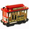 Musical San Francisco Cable Car Replica, wooden trolley
